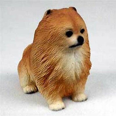 POMERANIAN Red Dog Puppy Love Hand Painted Collectable Figurine Statue