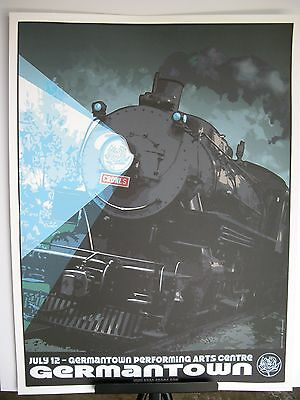 2007 Ryan Adams Germantown Performing Center Tour Concert Train Poster July 12