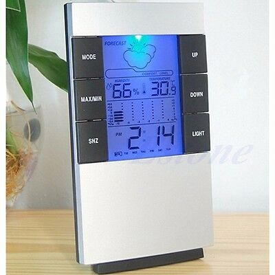 Indoor LCD Digital Hygrometer Thermometer Temperature Humidity Meter Alarm Clock