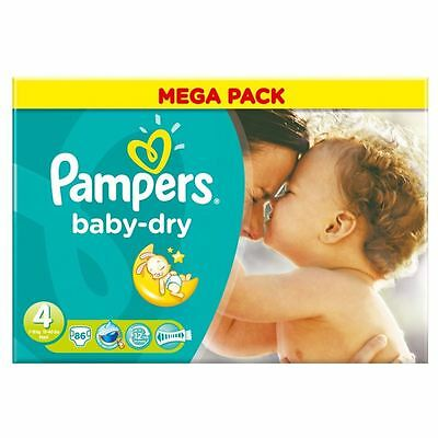 PampersBaby Dry Taille 4 Maxi 7-18Kg (86)