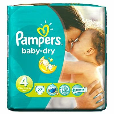 PampersBaby Dry Taille 4 Maxi 7-18Kg (27)
