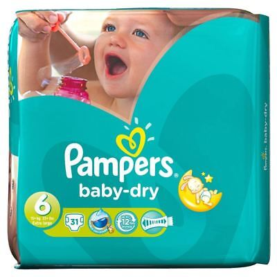PampersBaby Dry Taille 6 Extra Large 16 Kg + (31)