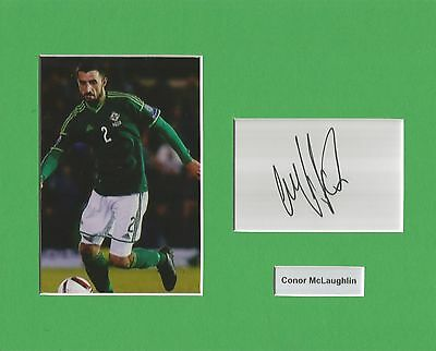 A 10 x 8 inch mount personally signed by Conor McLaughlin of Northern Ireland.