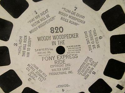 Woody Woodpecker in the Pony Express Ride #820 Sawyer 1951 Viewmaster Reel