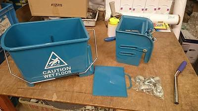 CONTICO Professional heavy Duty Kentucky Mop Bucket  & Wringer 20L - Teal #351