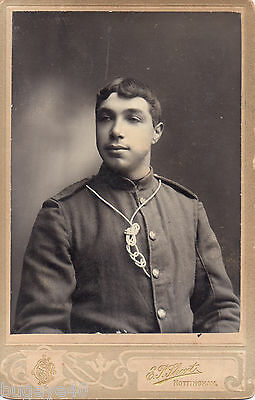 Trooper Unknown Company, Imperial Yeomanry wears lanyard Nottingham photo