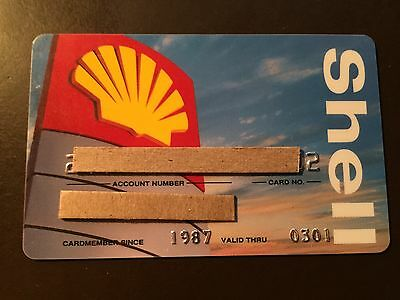 Shell Oil Company 2001 Vintage Collectors Credit Card