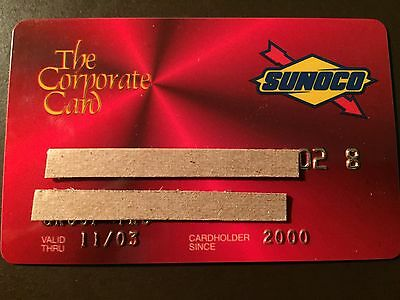 Sunoco Oil 2000 Corporate Card Vintage Collectors Credit Card