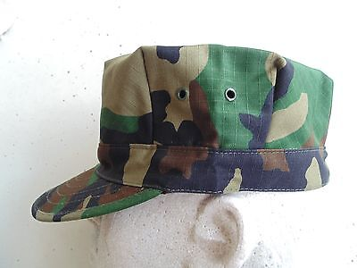 Usmc Us Marine Corps Ripstop Woodland Bdu Camo Combat Cap 8 Point Cover Size Sm