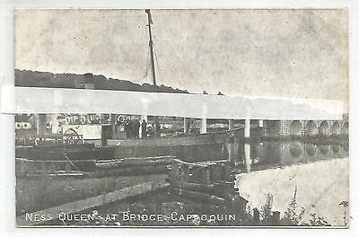 irish postcard ireland waterford the ness queen boat at cappoquin