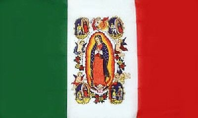 OUR LADY of GUADALUPE FLAG 5' x 3' Mexico Vatican City Catholic Virgin Mary