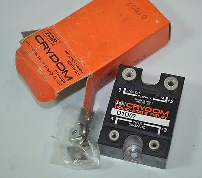 NOS Crydom International Rectifier D1D07 Solid State Relay 3.5-32V DC - 100V DC