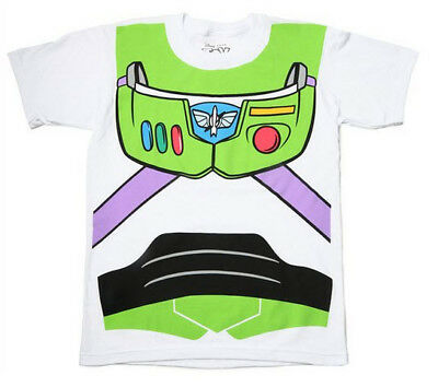 Toddler's Toy Story Movie Buzz Lightyear Astronaut Costume White T-shirt Tee