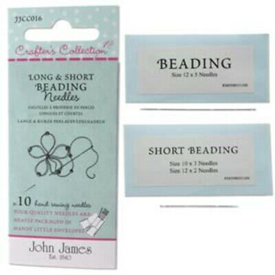 Ten Assorted Crafter's Collection Long & Short Beading Needles