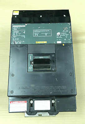 New SQUARE D LC 3 pole 500 amp 600v LC36500 Circuit Breaker Green Label Flaw