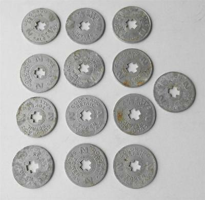 LOT of 13 Old Antique Colorado Retail State Sales Tax Tokens Coin CO