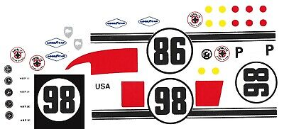 #45 1//25th 1966 Ford GT40 #15 1//24th Scale WATERSLIDE DECALS #16