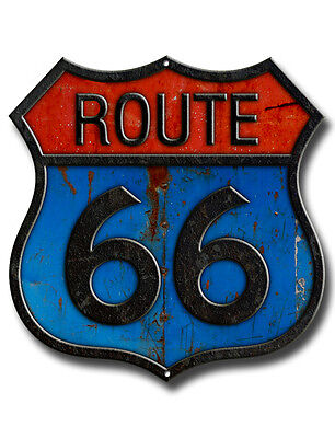 Route 66 Metal Sign.drive Route 66 Usa,historic Route 66,americas Mother Road.