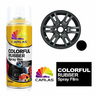 Carlas Removable Rubber Spray Paint Film Coating - MATT BLACK - Alloy Wheels Pan