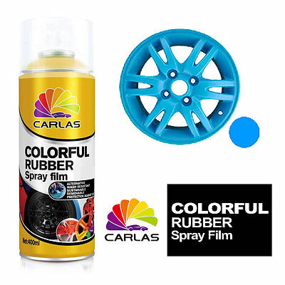Carlas Removable Rubber Spray Paint Film Coating - BLUE - Alloy Wheels Panels