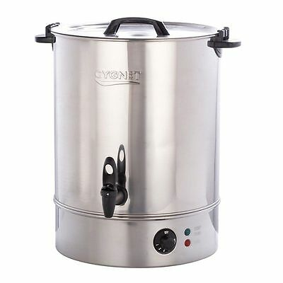 Burco Cygnet Commercial 30L Catering Hot Water Boiler Tea Urn - Stainless Steel