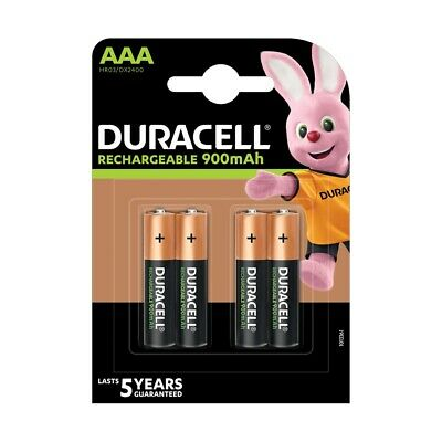 4 Pack Duracell AAA NiMH Rechargeable Batteries Duralock Pre/Stay Charged 850mAh