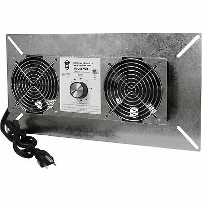 Tjernlund UnderAire™ Crawl Space Ventilator-Deluxe Two-Fan 220 CFM #V2D