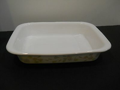Corning Ware Pan A-21 in Pastel Bouquet Pattern Roaster Lasagna Size
