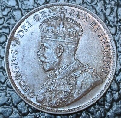 OLD CANADIAN COIN - 1916 - LARGE CENT - ONE CENT - George V - WWI era - Nice
