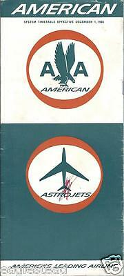 Airline Timetable - American - 01/09/66
