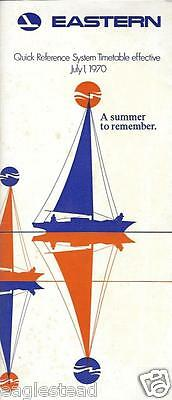 Airline Timetable - Eastern - 01/07/70