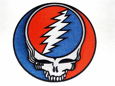 "GRATEFUL DEAD steal your face HUGE 8"" IRON ON BACK PATCH *Free Shipping* p1218x"