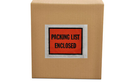 """2000 Pouches, Packing List Enclosed 7"""" x 5.5"""" Full Face Envelopes"""