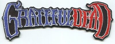 GRATEFUL DEAD  r/w/b logo EMBROIDERED PATCH **FREE SHIPPING** 50th ann. -c p4345