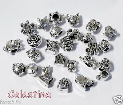 Wholesale Tibetan Silver Spacer Beads For / Fit European Charm Bracelets