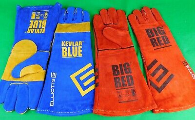 6 Pair made with Kevlar Blue Gloves Welding Denim lined stitched Glove Large