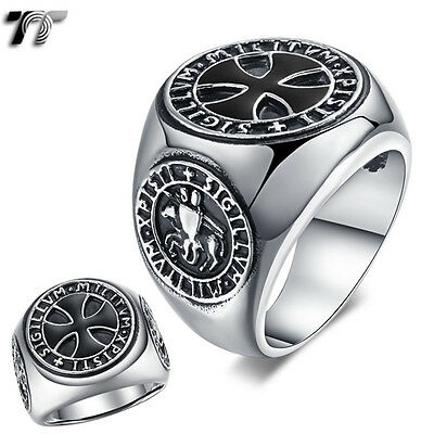 High Quality TT 316L Stainless Steel Iron Cross Ring Size 7-14 (RZ131) NEW