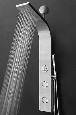 "39"" Shower Panel Tower Handheld Shower Head Wand Body Spray High Efficiency"