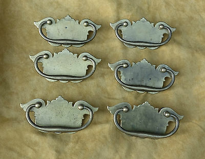 Set Of 6 Matching Antique Drawer Pulls Brass