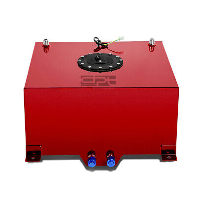 10 Gallon Lightweight Red Coat Aluminum Race Drift Fuel Cell Tank+Level Sender