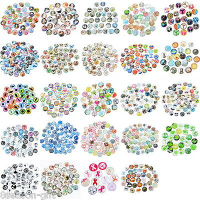 10PCs Mixed Glass Embellishments Flatbacks Cabochon Findings Phone Decor DIY