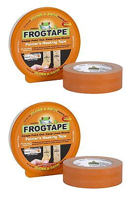2 x FROG TAPE ORANGE PAINTERS MASKING TAPE FOR GLOSS & SATIN 36MM x 41M