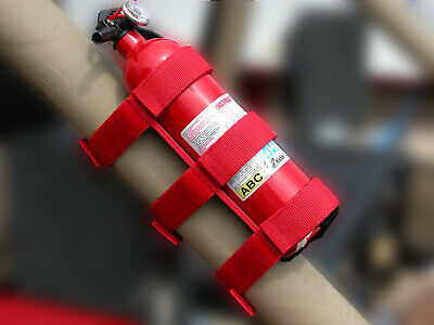 Sport Roll Bar Fire Extinguisher Holder Red for Jeep TJ JK CJ Wranglers
