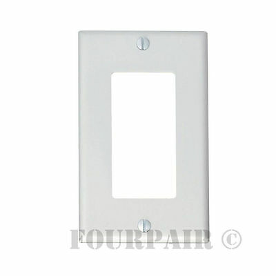 5 Pcs Pack Lot - Decora Style Flush Wall Face Plate Single 1 Gang GFCI - White