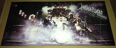 JUDAS PRIEST 2004 PROMO POSTER for Metalogy BOX SET CD DOUBLE SIDED CARDSTOCK