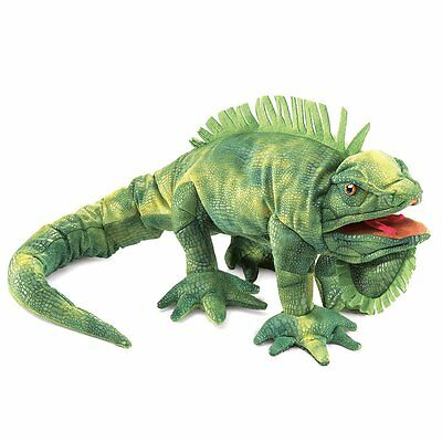 Hand Puppet - Folkmanis - Iguana New Animals Soft Doll Plush Toys 2258