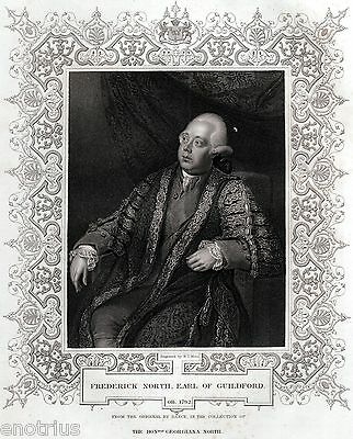 Lord Frederick North, 2nd Earl of Guilford (1732-1792): Prime Minister. 1850