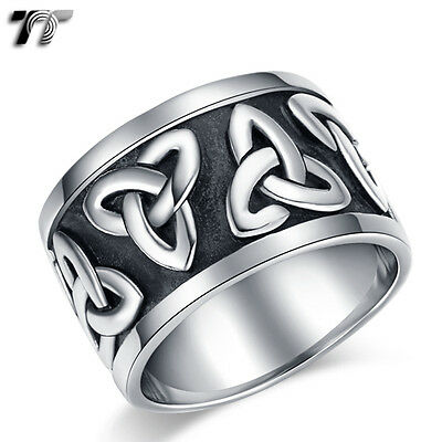 High Quality TT 316L Stainless Steel Thick Band Ring Size 8-14 (RZ127) NEW