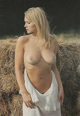 771 # Ak Pin-up girl nude nue Busen busty breasts topless Akt blonde nackt nu