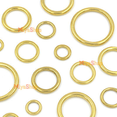 Solid Brass O Rings of leather Accessory Cast High Quality Carft Strap Round DIY